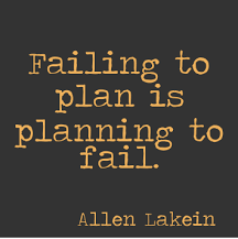 Motivational Monday – Failing to Plan is Planning to Fail